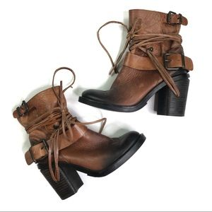 Vince Camuto Brown Leather Silas Booties Size 6